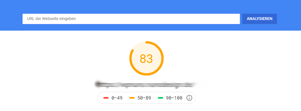 Score PageSpeed